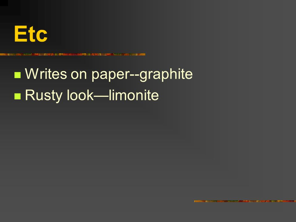 Etc Writes on paper--graphite Rusty look—limonite