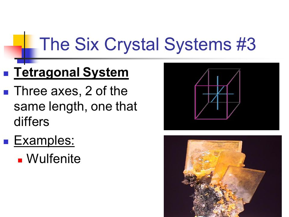 The Six Crystal Systems #3