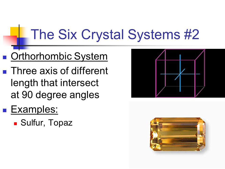 The Six Crystal Systems #2