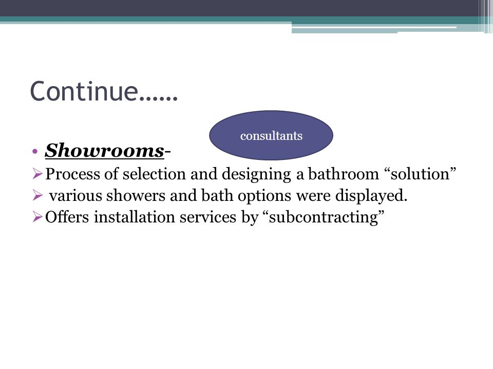 Continue…… Showrooms-
