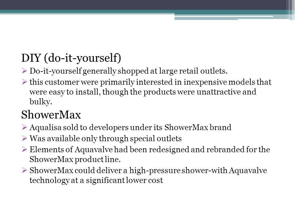DIY (do-it-yourself) ShowerMax