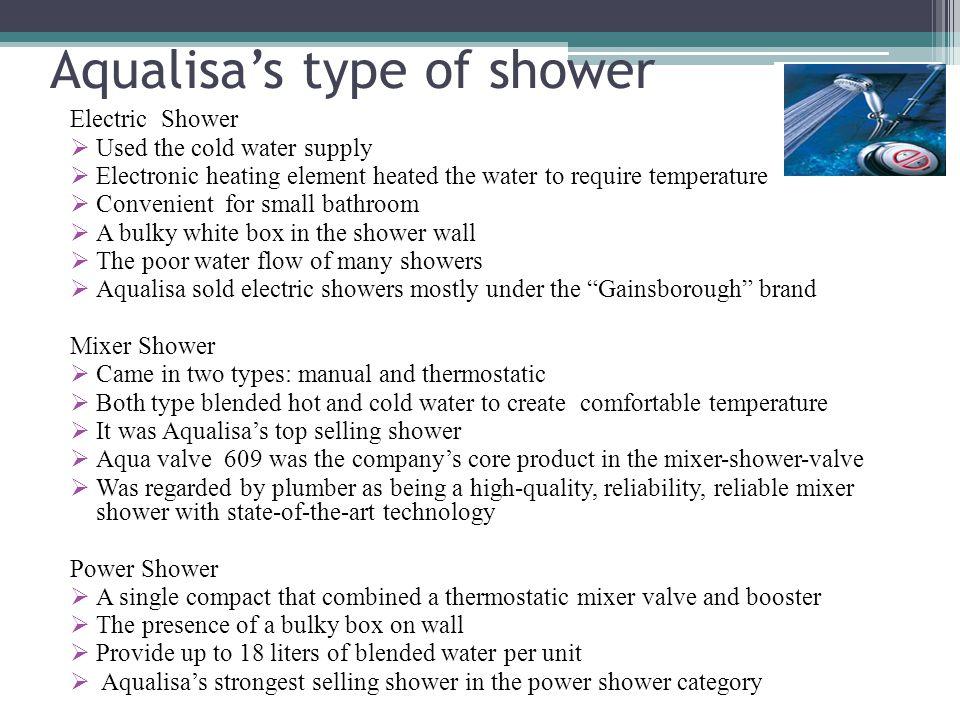 Aqualisa's type of shower