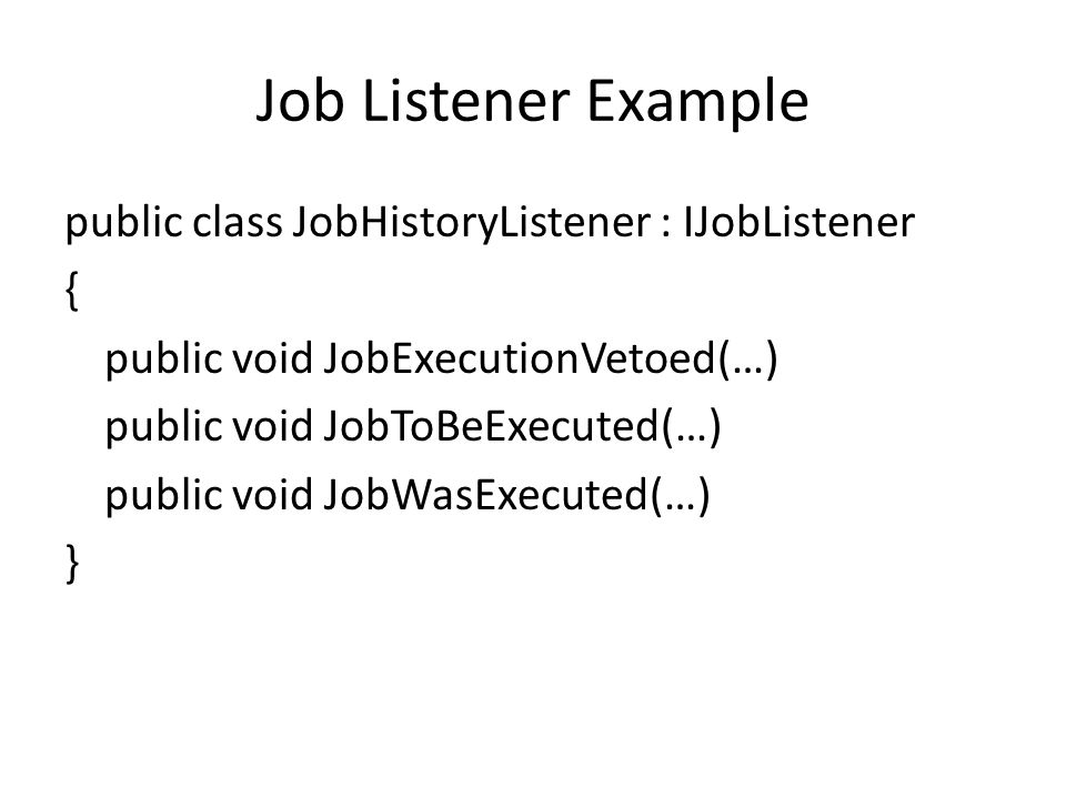 Job Listener Example