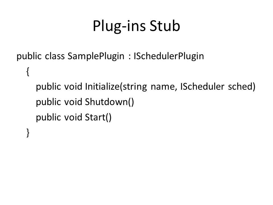 Plug-ins Stub
