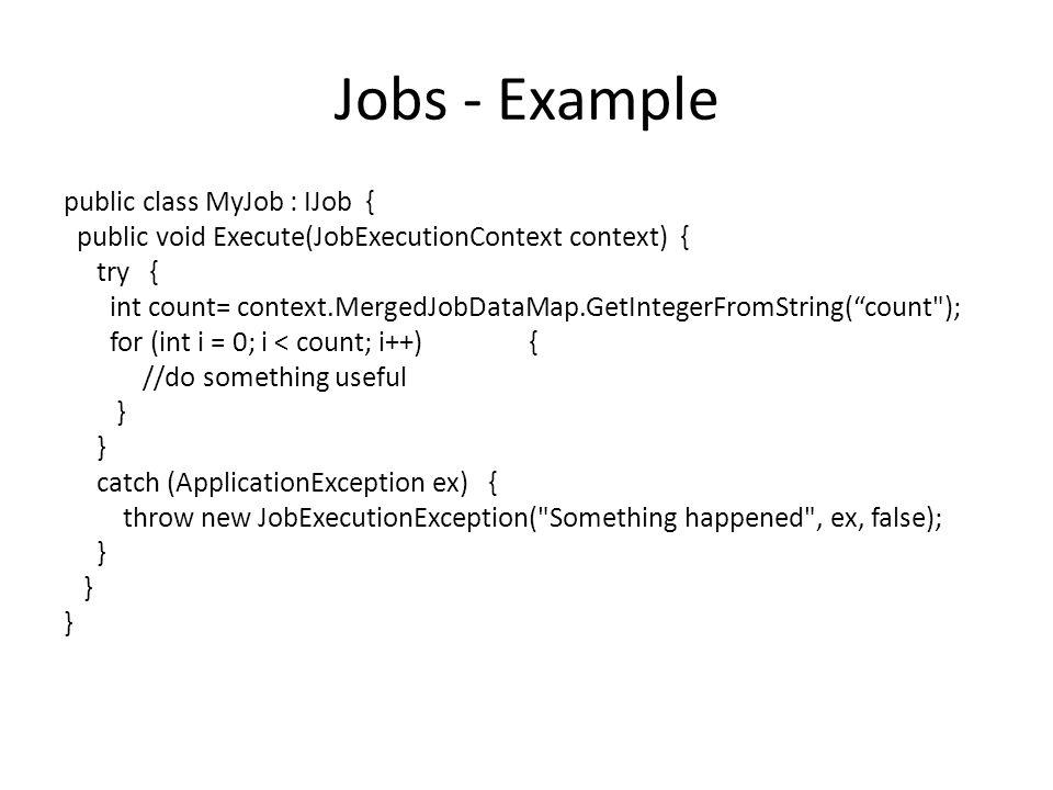 Jobs - Example