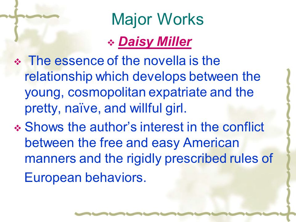 Major Works Daisy Miller