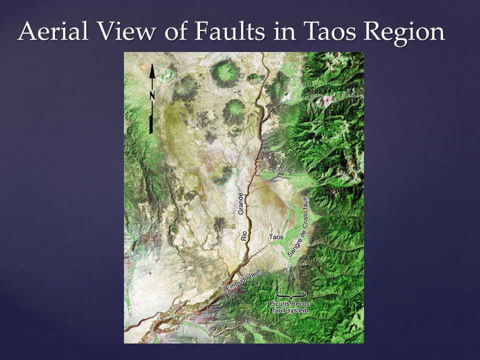 Aerial View of Faults in Taos Region