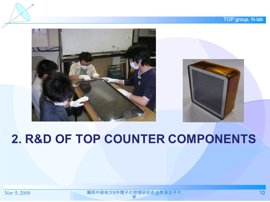 2. R&D of TOP Counter Components