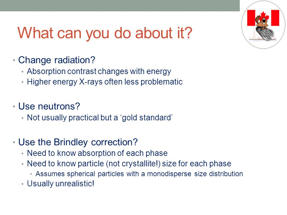 What can you do about it Change radiation Use neutrons
