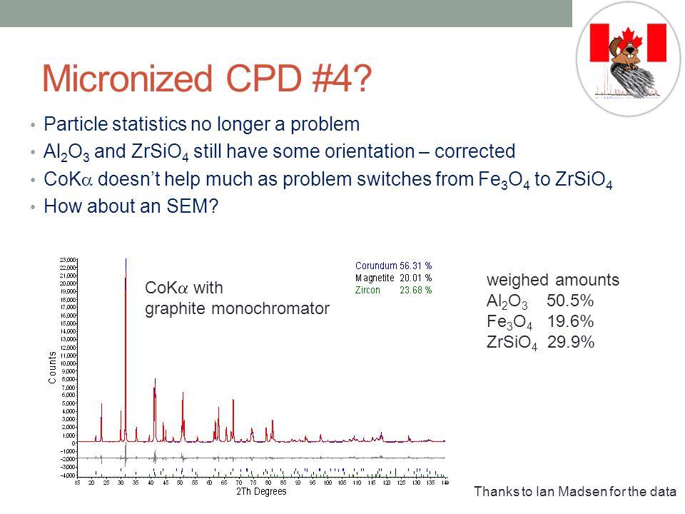 Micronized CPD #4 Particle statistics no longer a problem