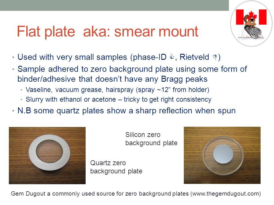 Flat plate aka: smear mount