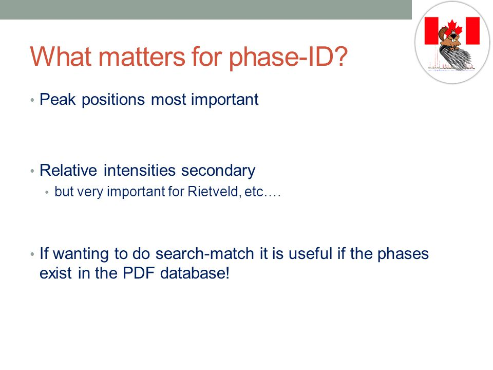 What matters for phase-ID