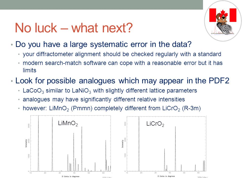 No luck – what next Do you have a large systematic error in the data