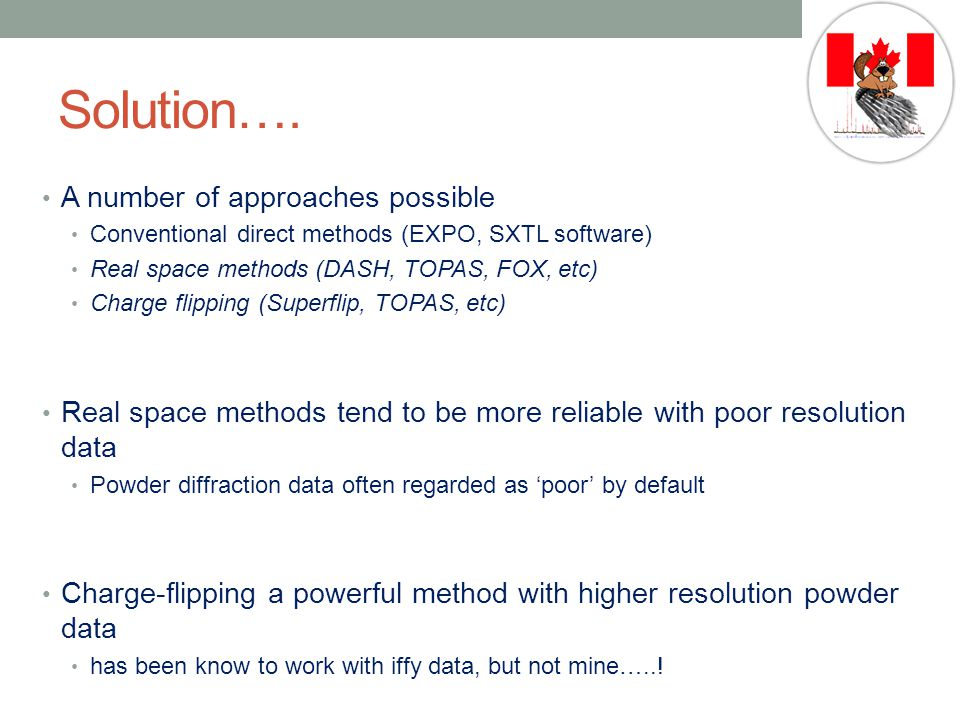 Solution…. A number of approaches possible