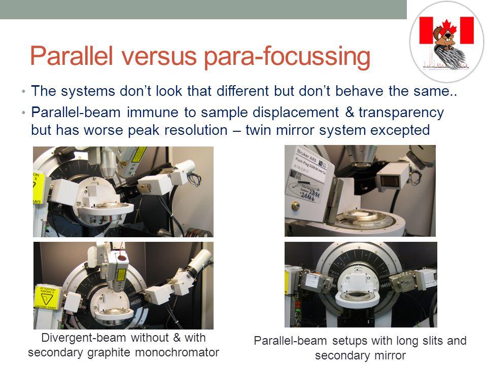 Parallel versus para-focussing