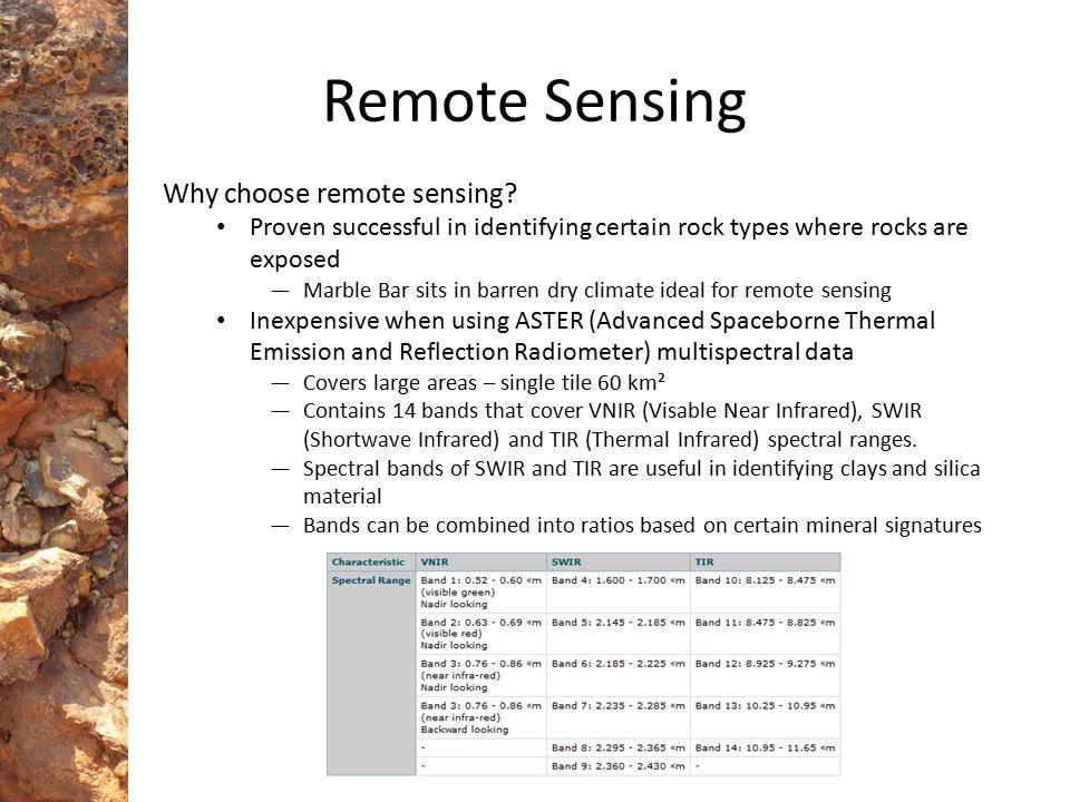 Remote Sensing Why choose remote sensing