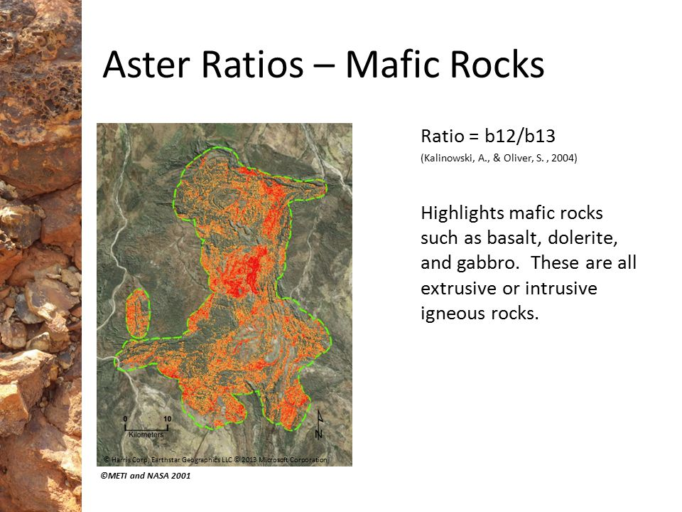 Aster Ratios – Mafic Rocks