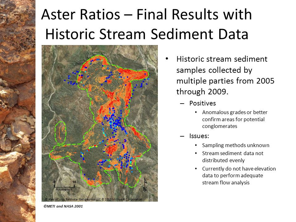 Aster Ratios – Final Results with Historic Stream Sediment Data