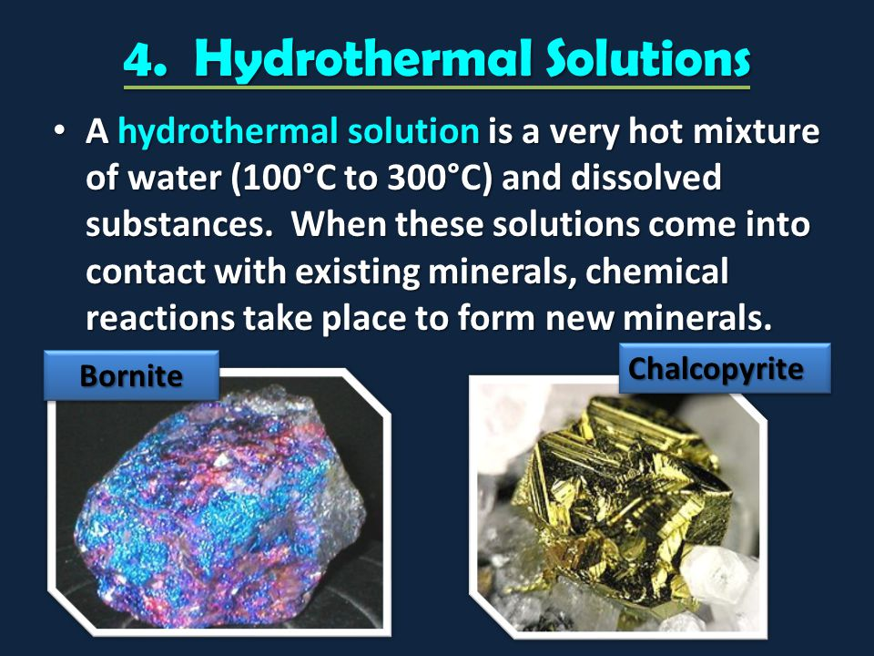 4. Hydrothermal Solutions