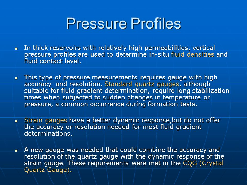 Pressure Profiles