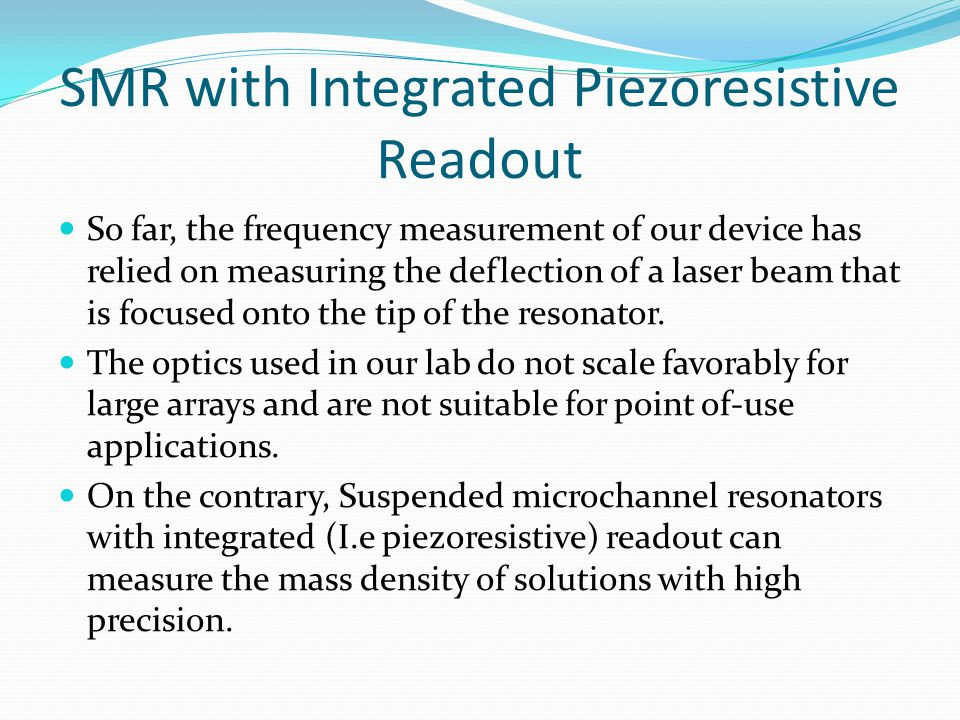 SMR with Integrated Piezoresistive Readout