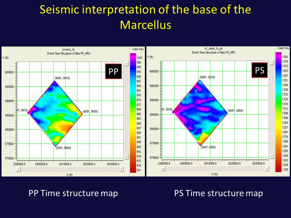 Seismic interpretation of the base of the Marcellus