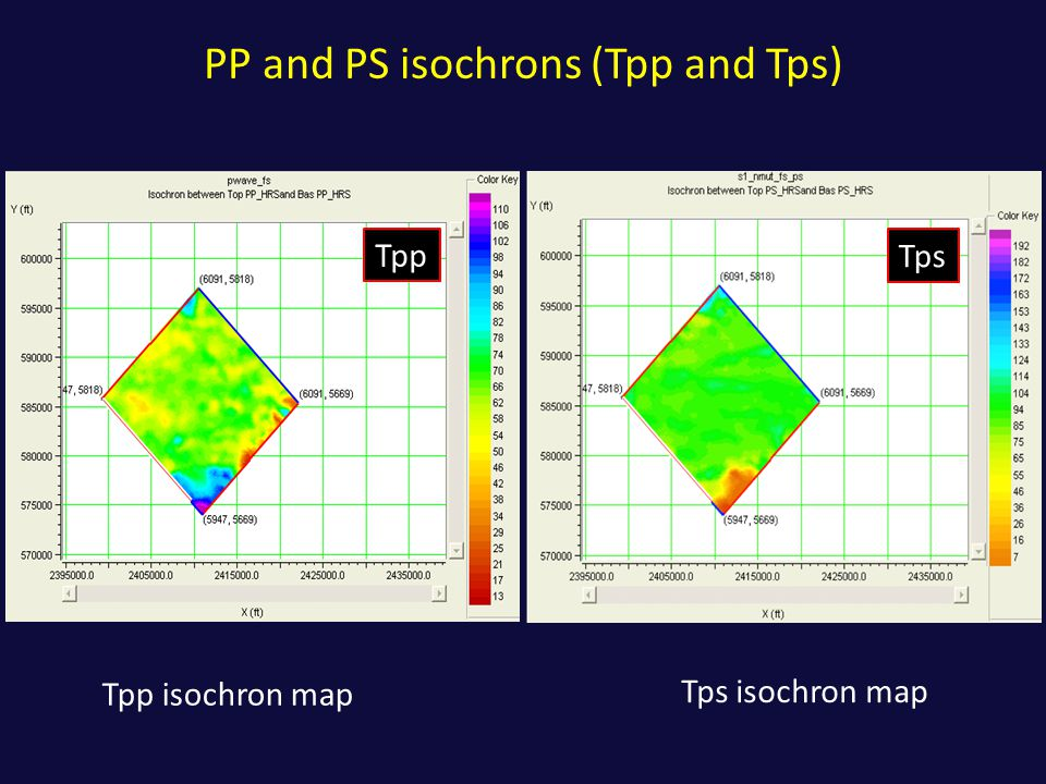 PP and PS isochrons (Tpp and Tps)