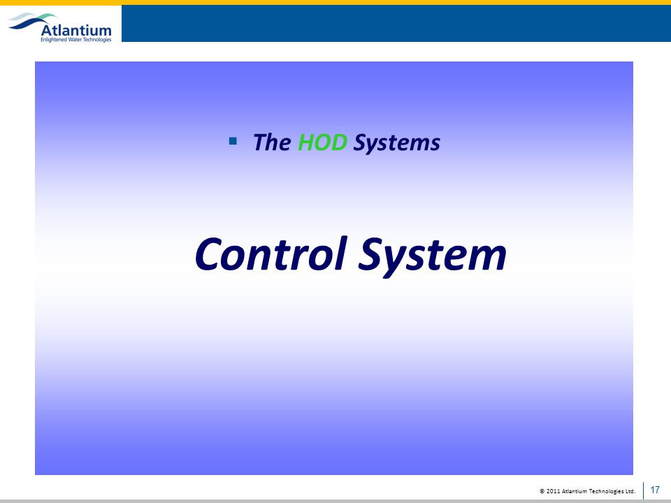 The HOD Systems Control System