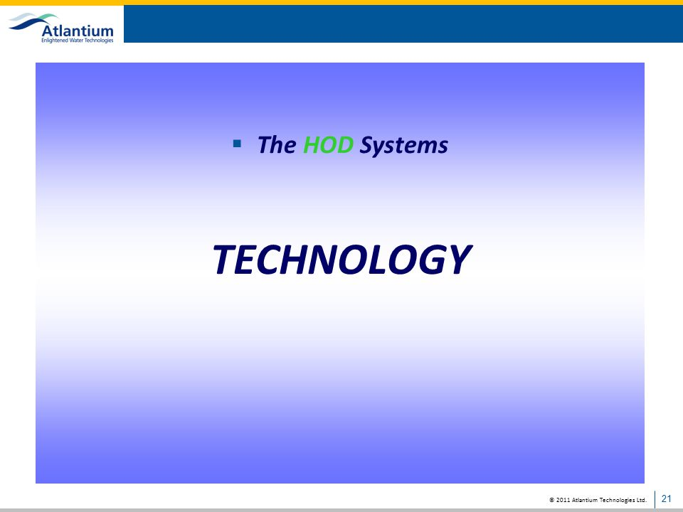 The HOD Systems TECHNOLOGY