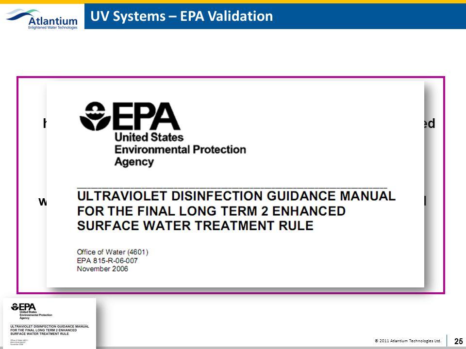 UV Systems – EPA Validation