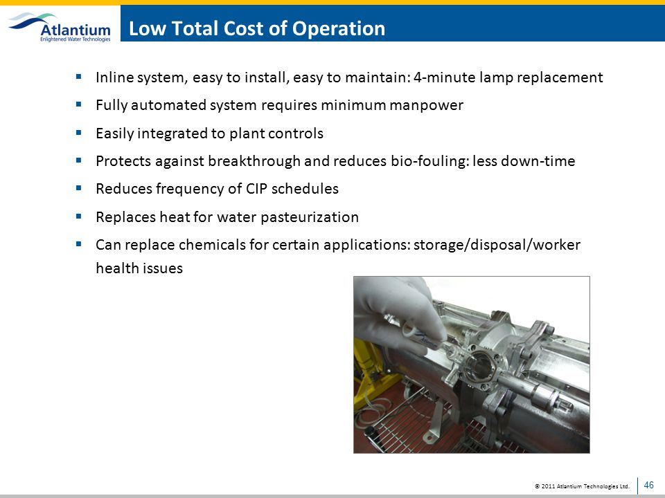Low Total Cost of Operation