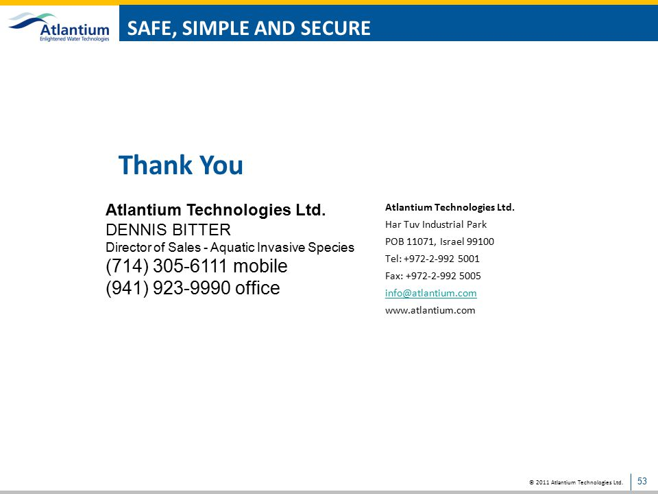 Thank You SAFE, SIMPLE AND SECURE (714) 305-6111 mobile