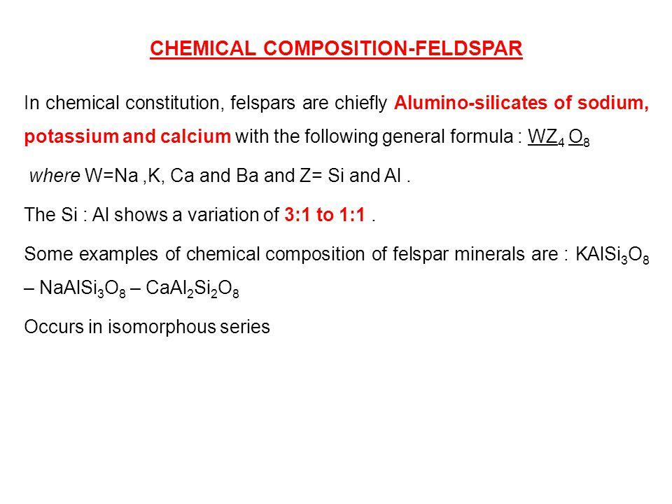 CHEMICAL COMPOSITION-FELDSPAR