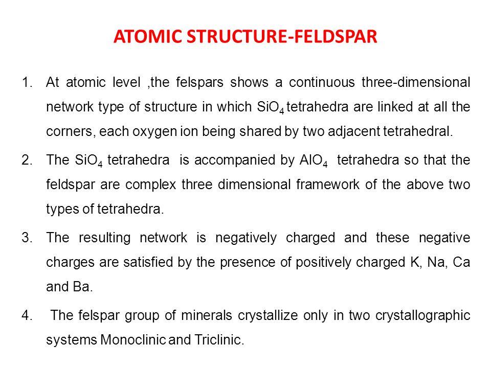 ATOMIC STRUCTURE-FELDSPAR