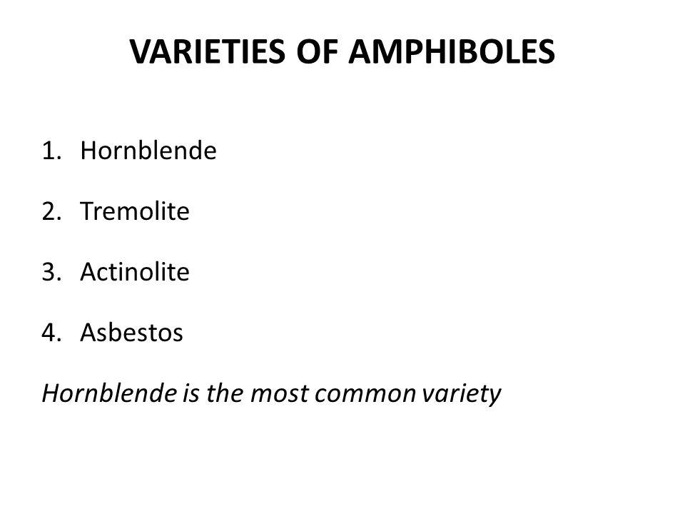 VARIETIES OF AMPHIBOLES