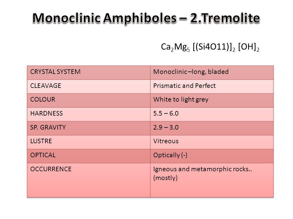 Monoclinic Amphiboles – 2.Tremolite