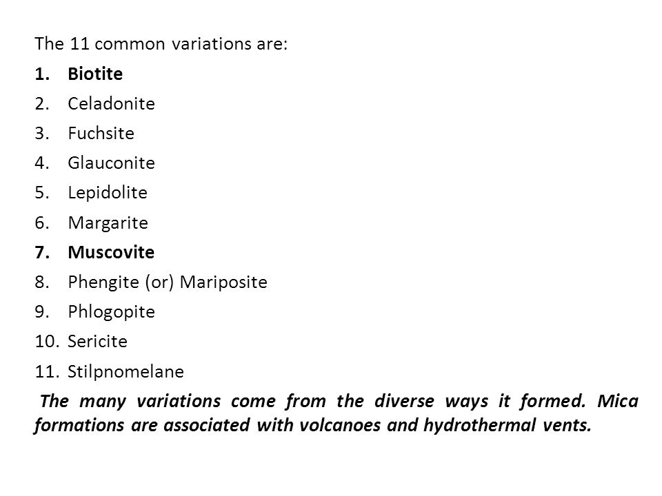 The 11 common variations are: