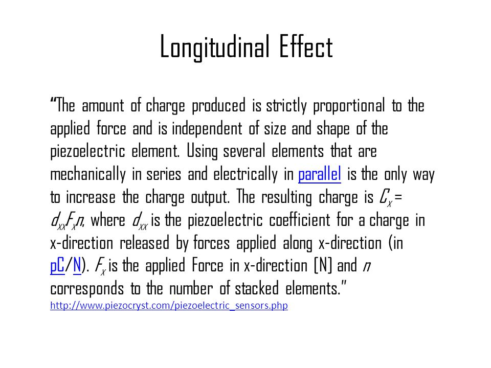 Longitudinal Effect
