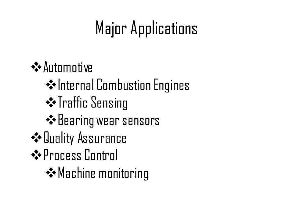Major Applications Automotive Internal Combustion Engines