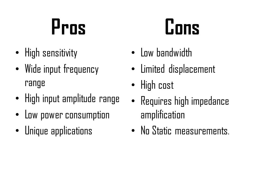 Pros Cons High sensitivity Wide input frequency range