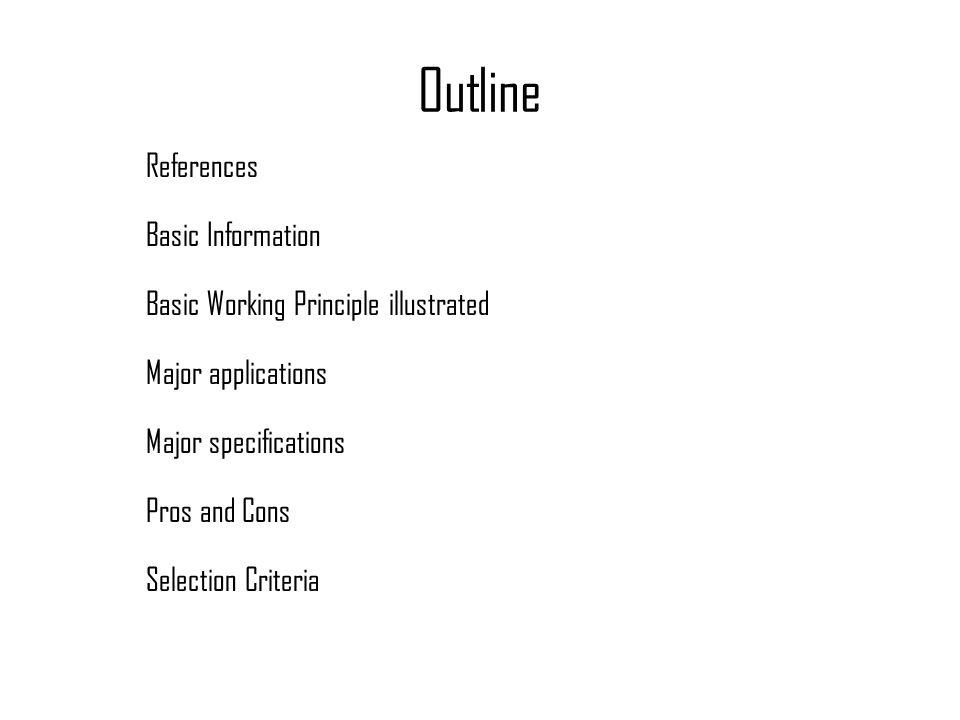 Outline References Basic Information