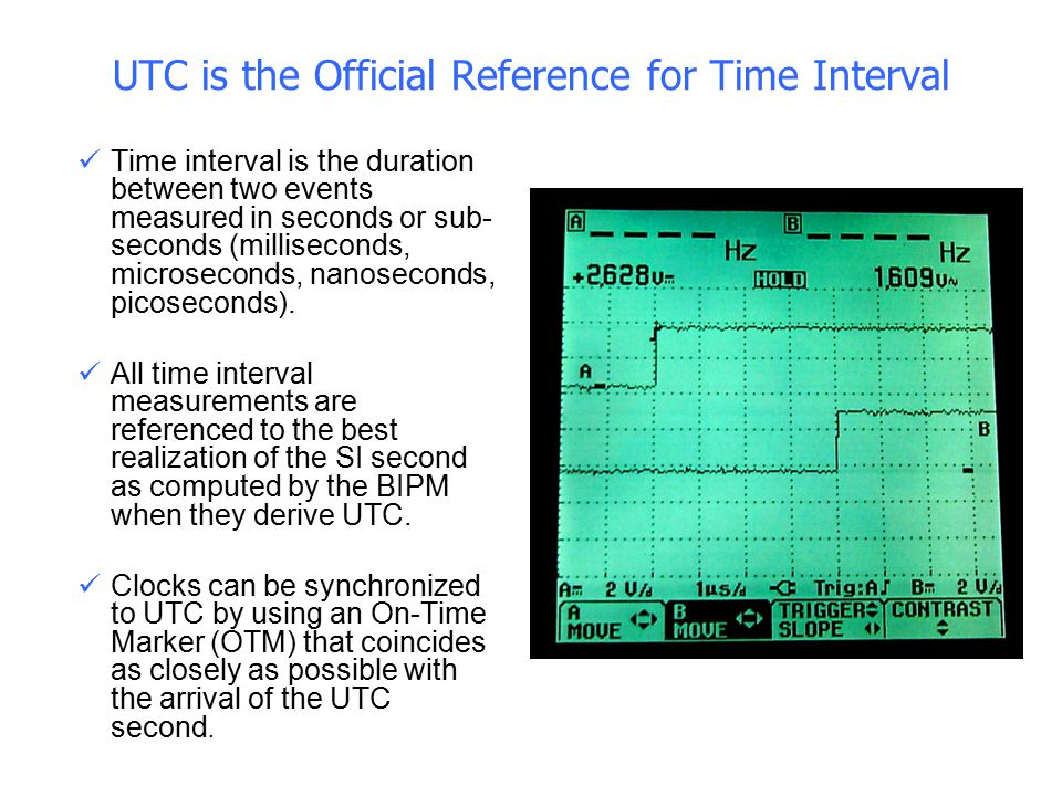 UTC is the Official Reference for Time Interval