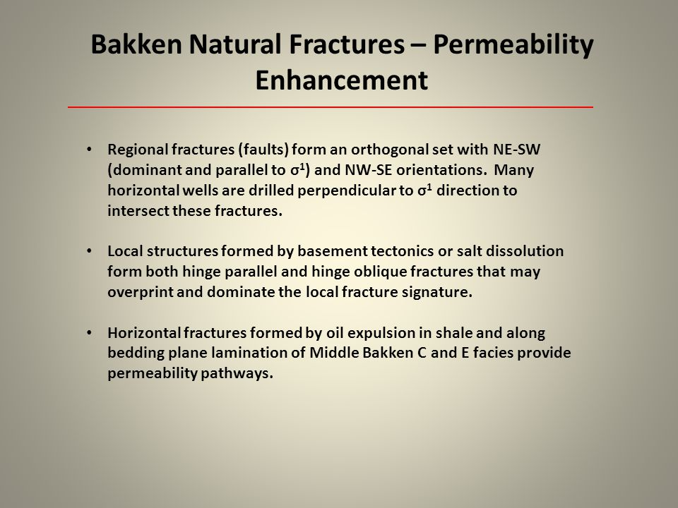 Bakken Natural Fractures – Permeability Enhancement