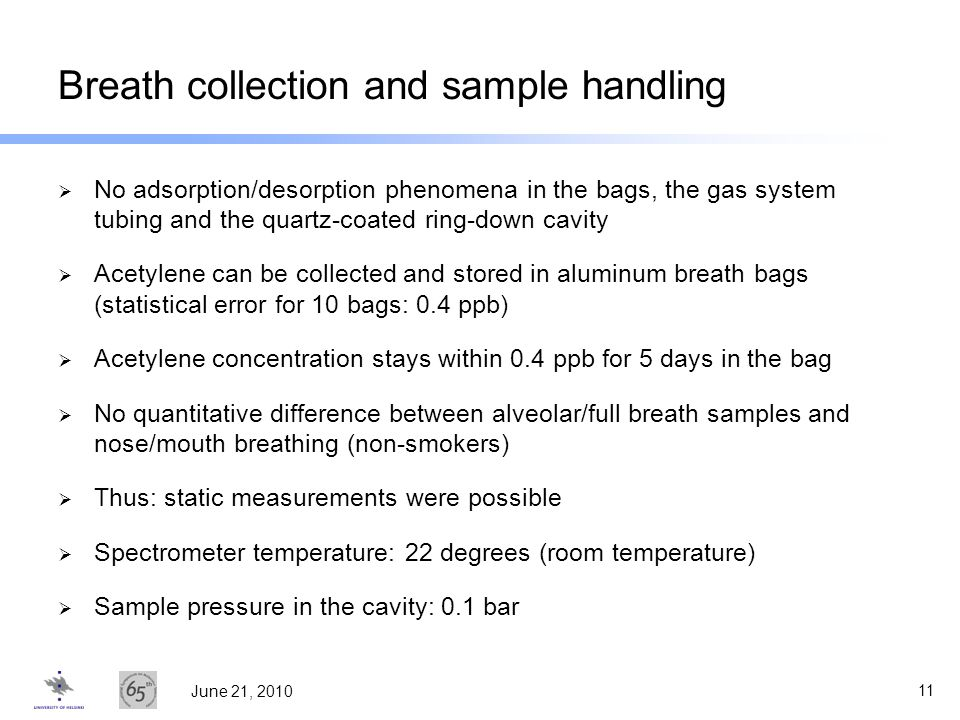 Breath collection and sample handling