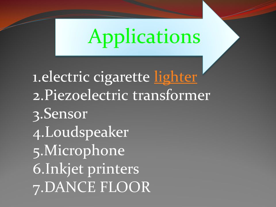 Applications 1.electric cigarette lighter 2.Piezoelectric transformer