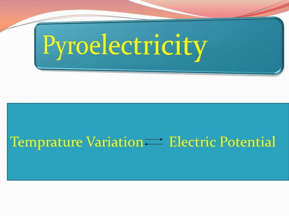 Pyroelectricity Temprature Variation Electric Potential