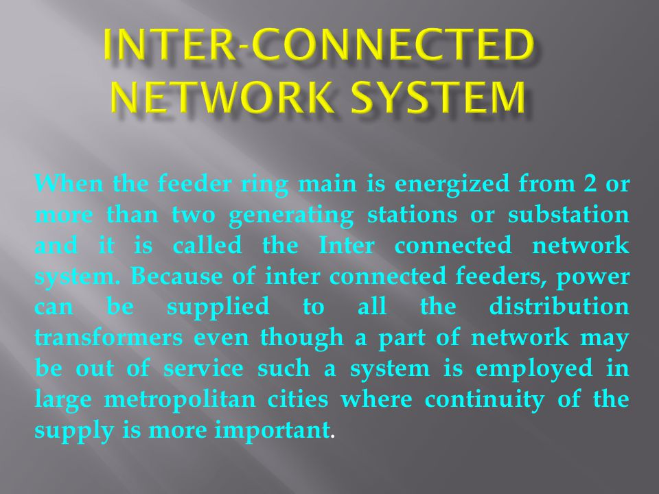 Inter-connected Network System