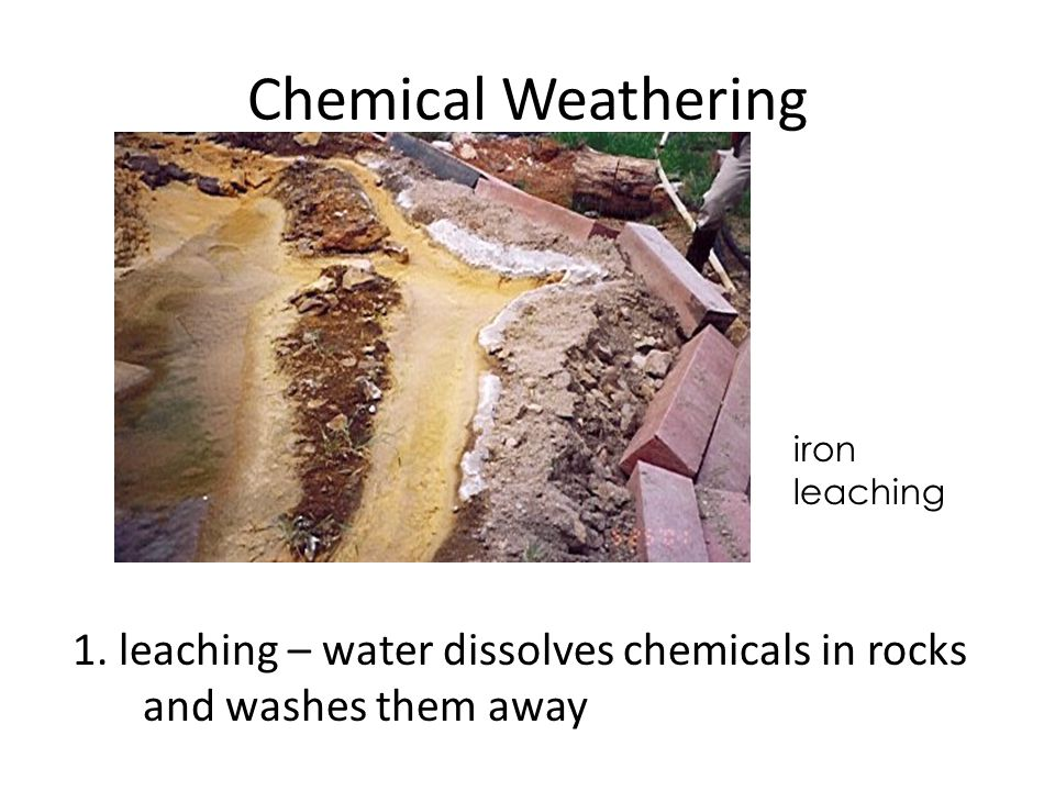 Chemical Weathering iron leaching. 1.