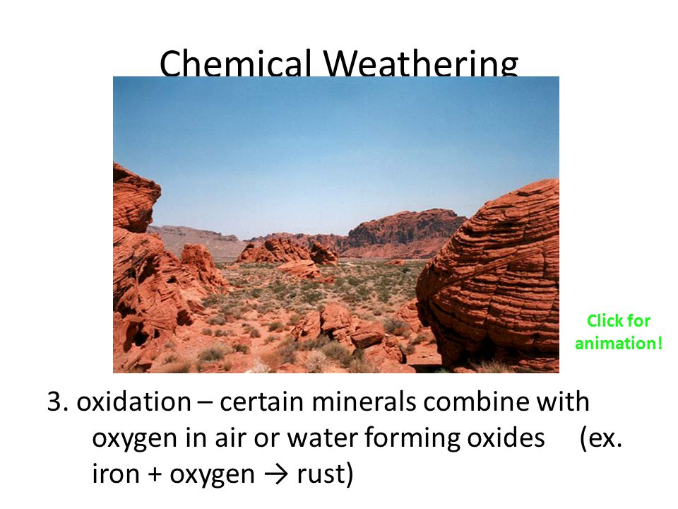 Chemical Weathering Click for animation!