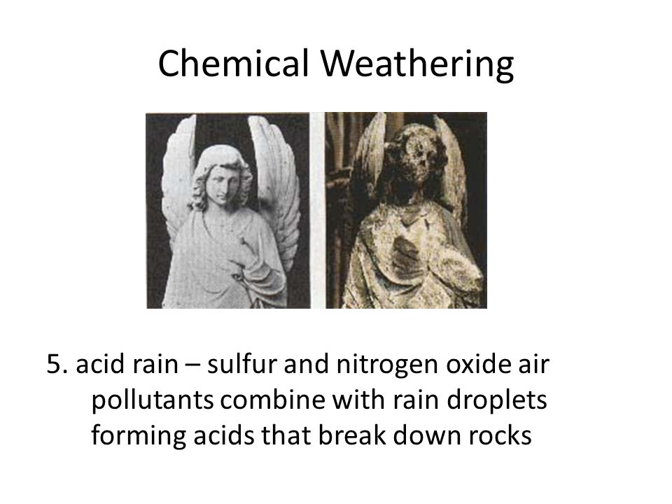 Chemical Weathering 5.